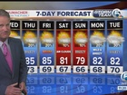 Fast-moving showers, weekend cool down