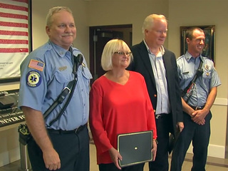 Couple honored for saving their neighbors' lives