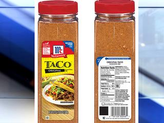 McCormick recalls taco seasoning mix