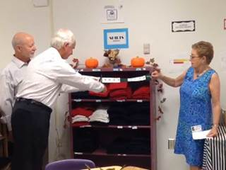 Ribbon cut on 'Kids Closet' for students