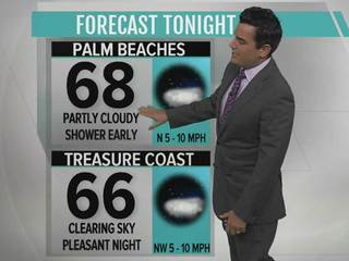 Partly cloudy and mild tonight