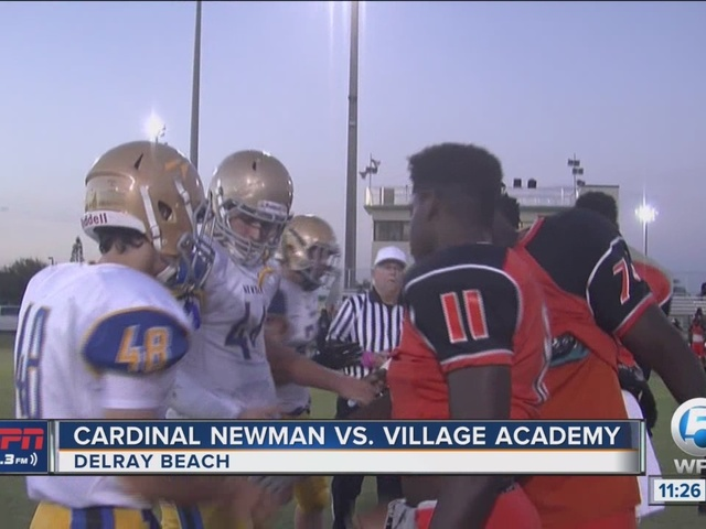 Cardinal Newman routs Village Academy, 53-8