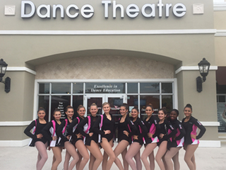 Local dance team performing at Macy's parade