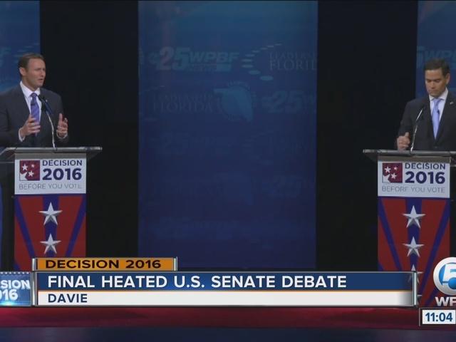 Final heated U.S. Senate debate