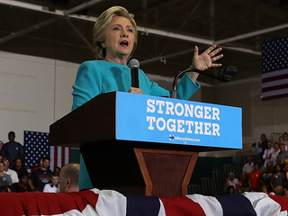 Hillary Clinton holds rally in Lake Worth