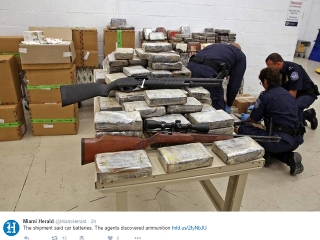 Customs agents disrupt covert arms shipment at Miami airport