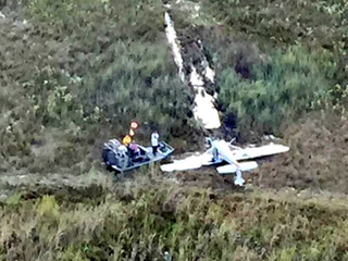 Small plane crashes in swampy area of Broward