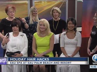 Eau Spa holiday hair hacks
