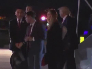 President-elect Trump arrives in Palm Beach Co.