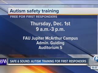 Autism safety training event in Jupiter Dec. 1
