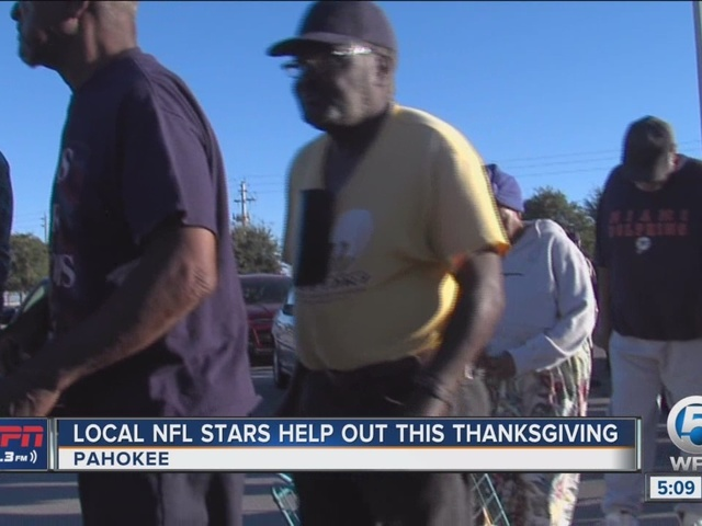 NFL stars help feed needy Pahokee families