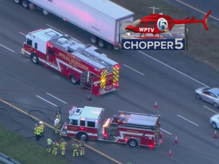 Truck, semi crash on I-95 SB near Jupiter