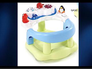 Baby bath seat recalled due to drowning hazard