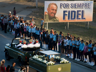 Castro's ashes interred in a private ceremony