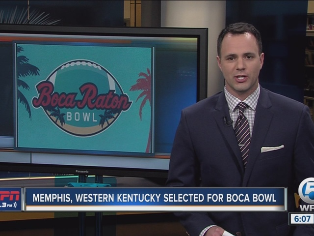 Western Kentucky, Memphis selected for third annual Boca Raton Bowl