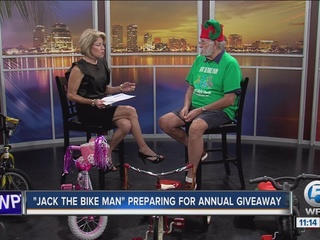 Jack the Bike Man prepares for annual giveaway