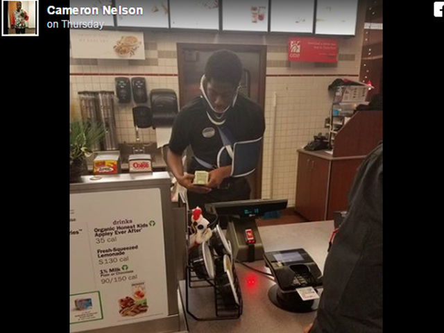 Photo of Chick-fil-A server working through injury goes viral