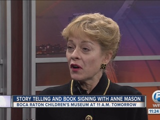 Storytelling, booking signing with Anne Mason