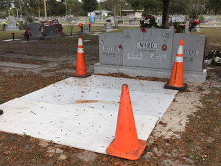 Family shocked to find mother's grave dug up