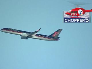 Trump's plane departs PBIA Thursday morning