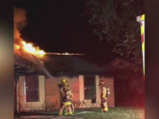 Family fortunate to escape New Year's Eve fire