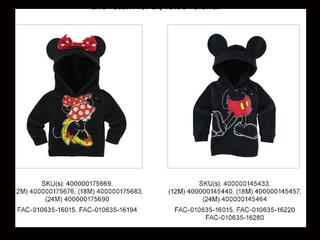Disney recalls 15,000 infant hooded sweatshirts