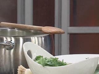 Lemony Chicken, Orzo & Kale Soup recipe (1/9/17)
