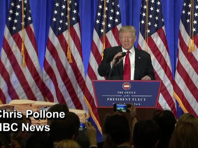 President-elect blasts 'fake news'