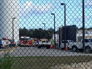 Worker rescued at Gardens water tower