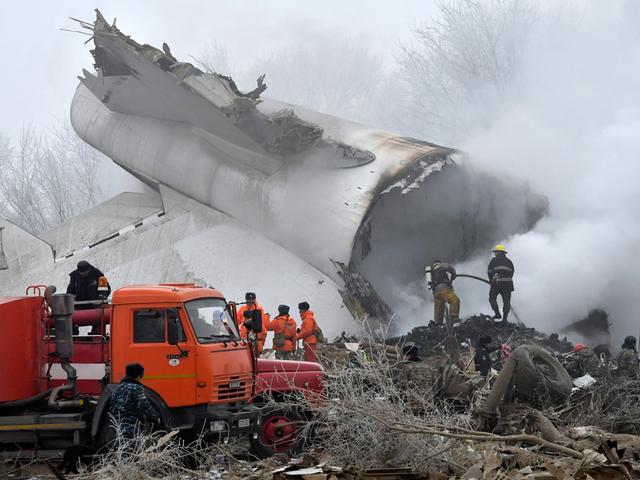 Cargo plane crash kills 37 Kyrgyzstan