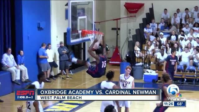 Cardinal Newman edges Oxbridge Academy- 59-58