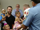 2-year-old girl saves baby sister's life