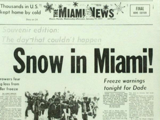 40th anniversary of snowfall in South Florida