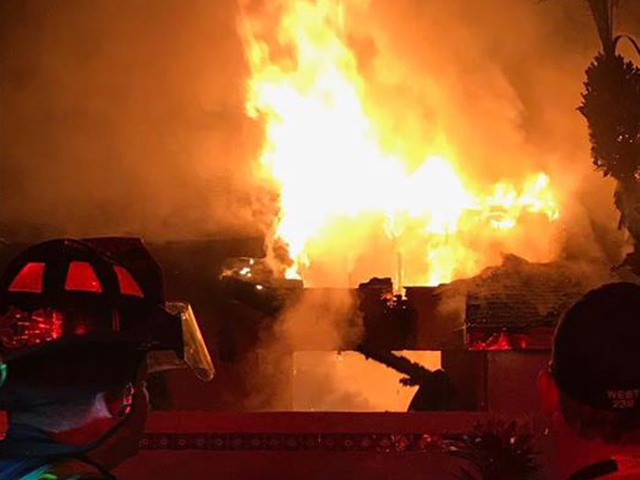Crews battle large fire in Port St. Lucie