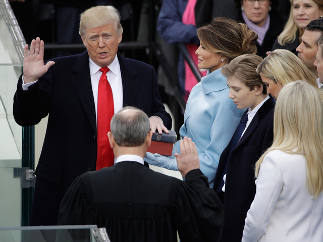 Donald Trump sworn in as nation's 45th president
