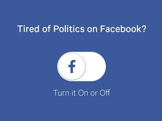 Plugin removes politics from your Facebook feed
