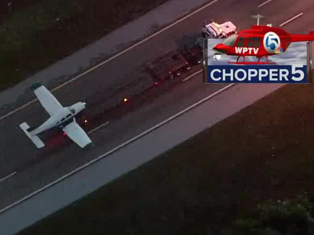 Small plane makes emergency interstate landing in Vero Beach