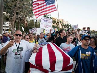 PHOTOS: Thousands march near Mar-a-Lago