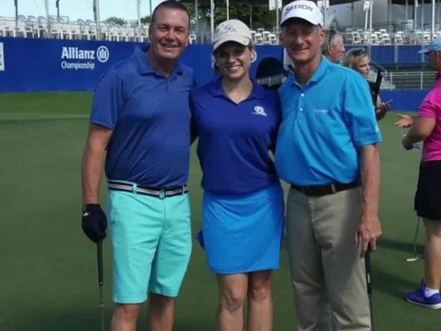 Ashleigh Walters- Johann Hoffend play golf- raise money for Autism Speaks