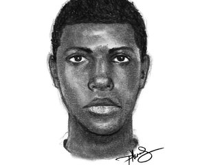Person of interest sketch in I-95 shooting