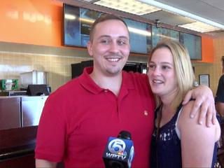Man proposes marriage at Jupiter Dunkin Donuts