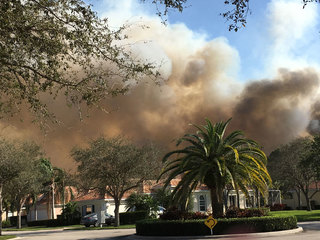 Brush fires in Martin, St. Lucie counties