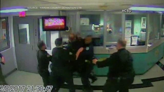 Deputies' jail fight caught on video