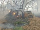 90-acre brush fire damages property