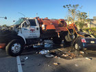 Septic truck, car collide in St. Lucie Co.
