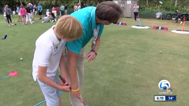 Golf clinic for kids with autism