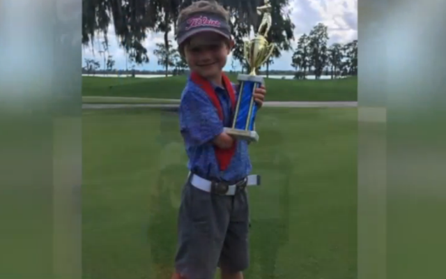 Tommy Morrissey- 6-year-old golfer with one arm- showing that nothing is…