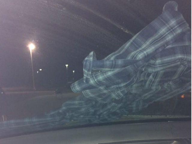 Woman's Facebook warning of shirt on vehicle windshield goes viral