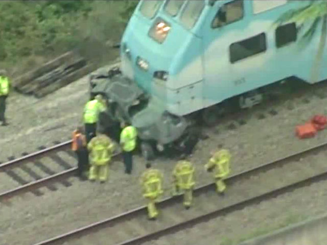 Tri-Rail train hits car near Forest Hill Blvd.