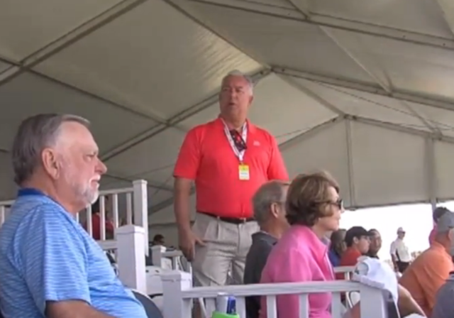 A volunteer with a special role in the stands